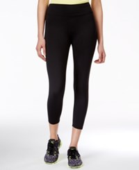 Jessica Simpson The Warm Up Juniors' Cropped Active Leggings Only At Macy's Jet Black