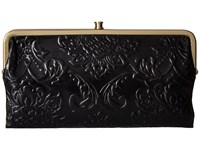 Hobo Lauren Diamond Embossed Black Clutch Handbags
