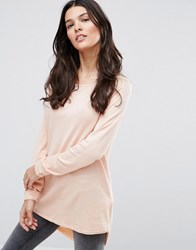 Only Mila Lacy Long Sleeved T Shirt Peach Parfait Pink