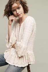 Anthropologie Rory Lace Blouse Ivory