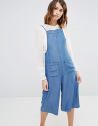 Warehouse Strappy Culotte Jumpsuit Blue