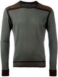 Etro Two Tone Jumper Green
