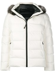 Yves Salomon Hooded Padded Jacket White