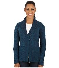 Royal Robbins Autumn Rose Cardigan Deep Blue Women's Sweater