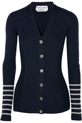 Sonia Rykiel Ribbed Wool Blend Cardigan