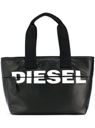 Diesel Printed Logo Shopper Black