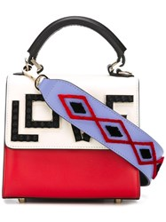 Les Petits Joueurs 'Love' Cross Body Bag Red