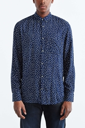 Zanerobe Seven Foot Dotted Button Down Shirt Navy
