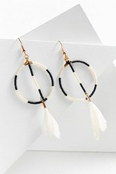 Fiona Paxton Sunray Beaded Hoop Drop Earring Cream