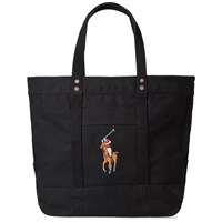 Polo Ralph Lauren Embroidered Tote Bag Black