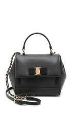 Salvatore Ferragamo Carrie Small Satchel Black