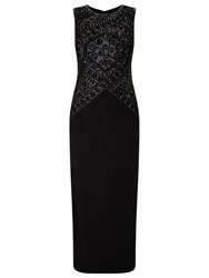 Phase Eight Collection 8 Embry Full Length Dress Black Silver