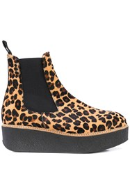 Flamingos Pooky Leopard Boots Brown