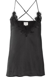Cami Nyc Everly Lace Trimmed Silk Charmeuse Camisole Black Gbp