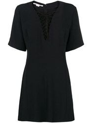 Stella Mccartney Lace Up Mini Dress Black