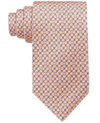 Brooks Brothers Men's Flag And Raft Neat Tie Orange