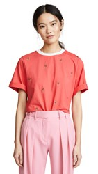 C Meo Collective Thrill Seeker Tee Cherry