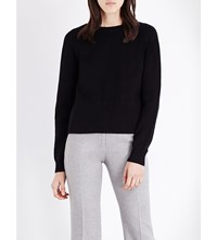 Proenza Schouler Button Back Knitted Jumper Black