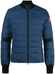 Canada Goose Quilted Bomber Jacket Blue