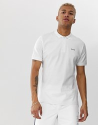 Nicce London Polo With Logo In White
