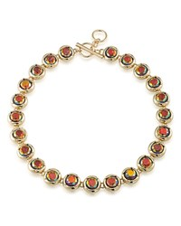 Abs By Allen Schwartz Stone Collar Necklace 16 Multi Gold