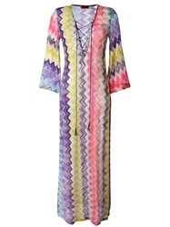 Missoni Zig Zag Beach Cover Up Pink Purple