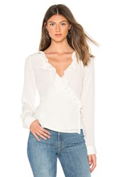 Line And Dot Haylee Wrap Top Ivory