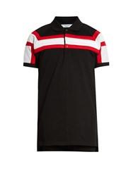 Givenchy Columbian Fit Padded Stripes Polo Shirt Black Multi