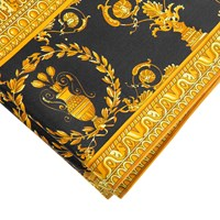 Versace Barocco And Robe Flat Sheet 270X300cm Gold Black