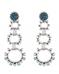 Dannijo Grayson Crystal Statement Earrings Blue