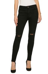Sanctuary Women's Robbie High Waist Distressed Skinny Jeans