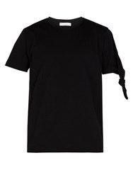 J.W.Anderson Knotted Cotton T Shirt Black