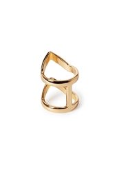 Forever 21 Chevron Cutout Ring Gold