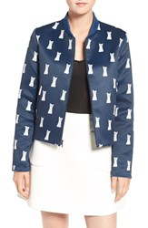 Paul And Joe Sister Women's Reversible Cat Print Bomber Jacket