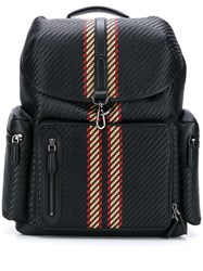 Ermenegildo Zegna Pelletessuta Leather Backpack Black