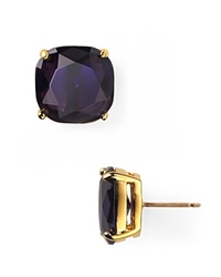 Kate Spade New York Small Square Stud Earrings Navy