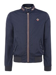 Schott Men's Zip Up Concealed Hood Jacket Navy