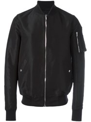 Rick Owens Flight Bomber Jacket Black