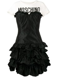 Moschino Ruffled Tiered T Shirt Dress Black