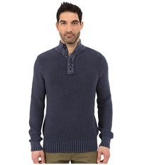 Lucky Brand Washed Out Mock Neck Blue Men's Sweater