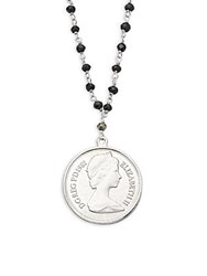 Alanna Bess Sterling Silver Pendant Bead Necklace