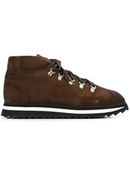 Doucal's Lace Up Boots Brown