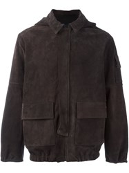 Road To Awe Hooded Suede Jacket Brown