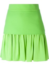 Fausto Puglisi Pleated Mini Skirt Green