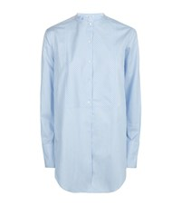 Helmut Lang Striped Oxford Tuxedo Shirt Female Blue