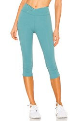 Free People Movement Mid Rise Get Shorty Legging Turquoise
