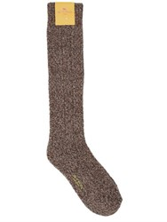 Etro Heatherd Wool Blend Knit Socks