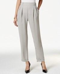Ny Collection Cuffed Pull On Pleated Trousers