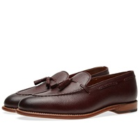 Grenson Scott Tassel Loafer Burgundy Grain Leather