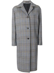 Paul Smith Oversized Check Coat Cotton Polyester Wool Cupro Black